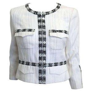 CHANEL Vintage Embellished Tweed Blazer/ Jacket